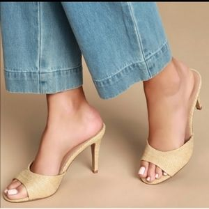 Womens Steve Madden Erin Raffia Heels size 5.5
